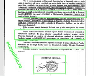 Constituire parte împotriva lui Oprisan Ponta