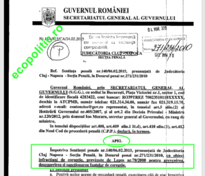 Plangere impotriva deciziei de achitare a lui Oprisan-Ponta