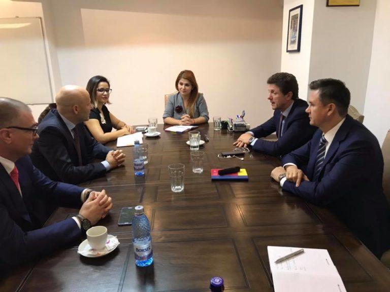 Ministrul tineretului și sportului s-a întâlnit cu șeful coordonării orașelor gazdă pentru EURO 2020
