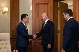 Ministrul Radu Oprea a fost primit joi la Chișinău, de Pavel Filip, Prim-Ministrul Republicii Moldova