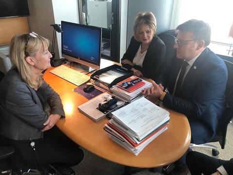 Ministrul Muncii și Justiției Sociale, Marius Budăi, s-a întâlnit, marți, la Bruxelles, cu Marita Ulvskog,