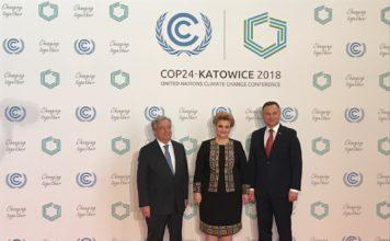 Secretarul General al ONU,António Guterres, Viceprim-ministrul, ministrul Mediului, Gratiela Leocadia Gavrilescu si Presedintele Poloniei, Andrzej Duda
