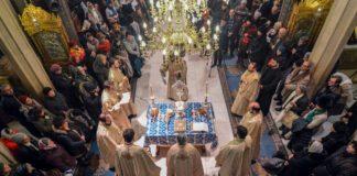 Botezul Domnului – vestit în Ajun de clericii slujitori ai Catedralei Patriarhale