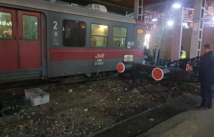 tren privat accident gara de nord