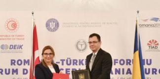 intrevederea ministrului Stefan Radu Oprea cu ministrul turc al comertului, Ruhsar Pekcan