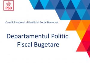 departamentul politici fiscal bugetare