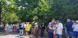 protest iohannis cotroceni