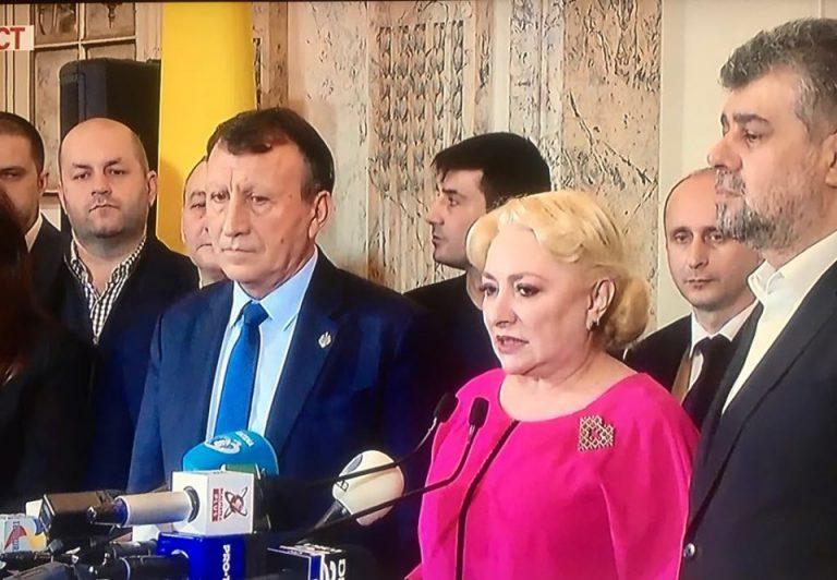 Dăncilă anunţă că nu va candida la şefia PSD, şi că îl susţine pe Ciolacu