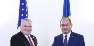 Bogdan Aurescu si ambasadorul SUA la București, Adrian Zuckerman