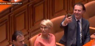 selfie-parlament Cîțu