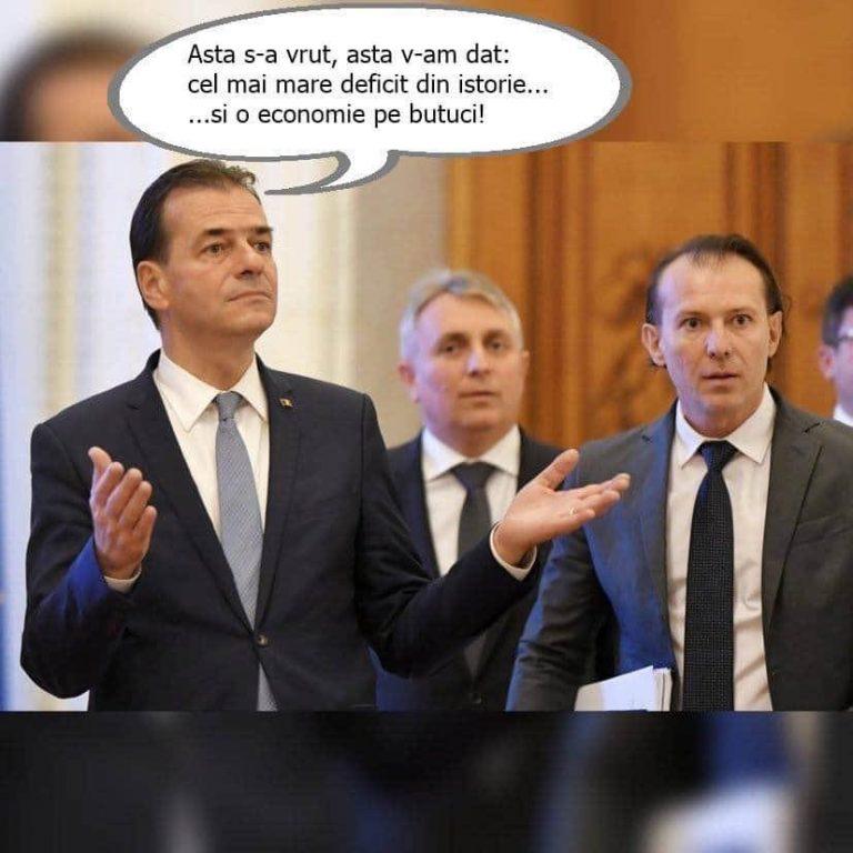 Teodorovici reacționeză după DEFICITUL RECORD anunțat de ministerul Finanțelor: Cuplu de măscărici, Cîțu-Orban, câștigă de departe Premiul Darwin pentru bulibășeală economico-fiscală!