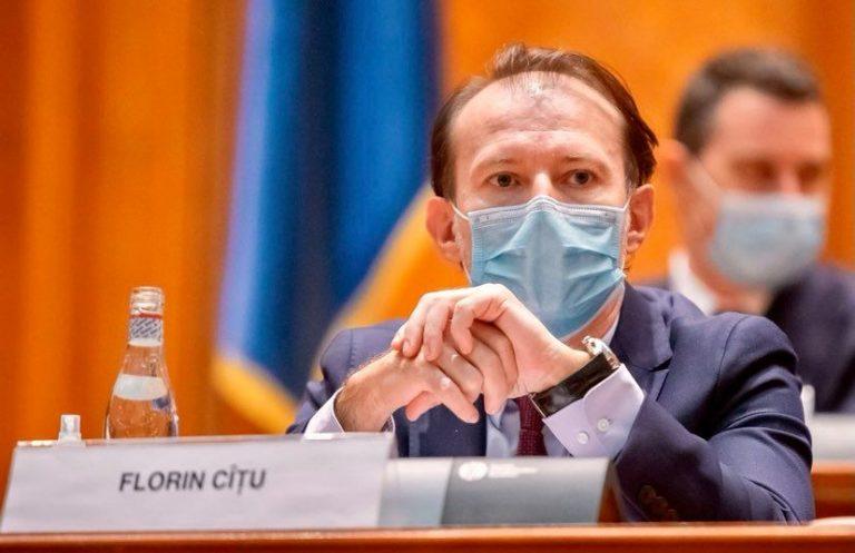 Premierul Florin Cîţu a anunţat că va candida la şefia PNL