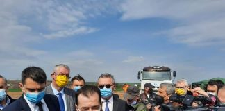 Orban pe santier drum expres Craiova Pitesti