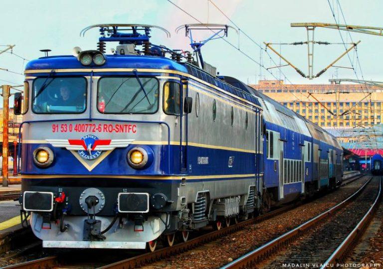 Două trenuri de marfă s-au tamponat în gara din Fetești