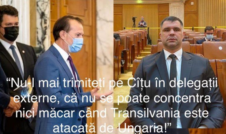 Daniel Ghiță – VIRULENT la adresa premierului Cîțu, care nu a reacționat la declarația președintelui Ungariei care-a spus că România a anexat Transilvania abuziv