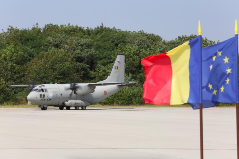Aeronava C-27 J Spartan, care a sprijinit acțiunile de stingere a incendiilor de pădure în Macedonia de Nord, s-a întors în țară