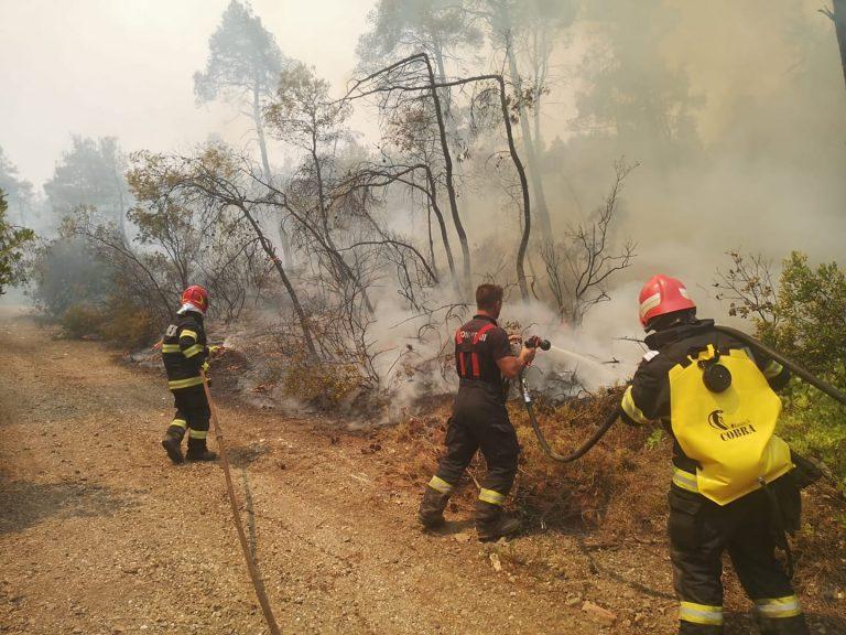 Premierul grec a mulțumit României pentru intervenția pompierilor români în stingerea incendiilor