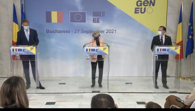 Șefa Comisiei Europene dă undă verde Planului Naţional de Redresare şi Rezilienţă al României