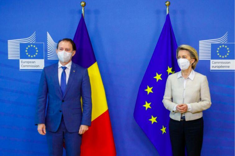 Premierul Florin Cîțu, întrevedere cu președinta Comisiei Europene, Ursula von der Leyen, la București