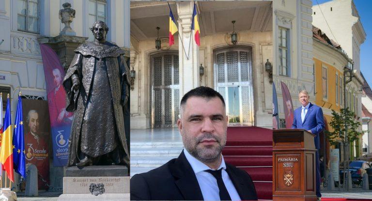 DEZVĂLUIRI / Daniel Ghiță: Presedintele Iohannis a dezvelit o statuie neautorizata!Statuia baronului Brukentahl NU are aviz de la Ministerul Culturii si autorizatie de construire de la Primaria Sibiu