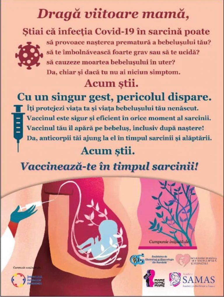 Președintele Societății de Obstetrică și Ginecologie din România, apel către gravide: Nu amânați vacinarea până după naștere
