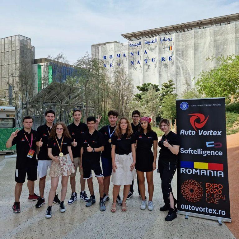 Al doilea triumf al echipei de robotică a României – AutoVortex; După succesul din SUA a urmat ExpoDubai 2020, unde și-a demonstrat încă o dată talentul